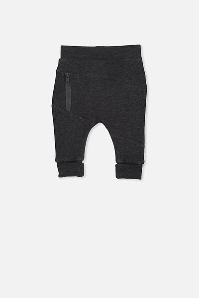 Shelby Trackpant, CHARCOAL MARLE/POCKET