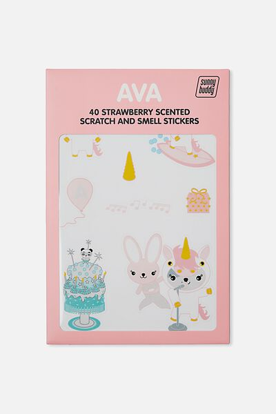 Sunny Buddy Scratch And Scent Sticker, AVA DRESS UP
