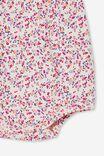 The Sleeveless Ruffle Bubbysuit, CRYSTAL PINK/FUSCHIA POP SOMERSET FLORAL