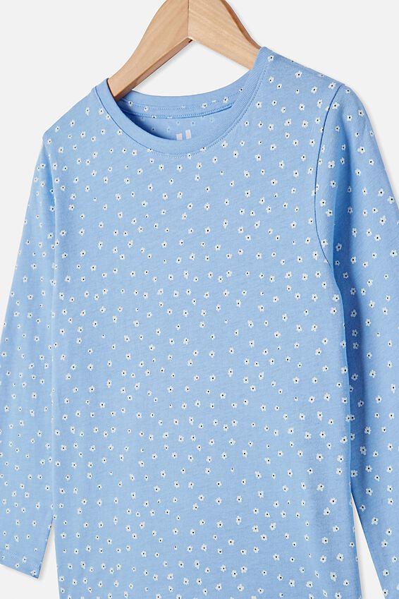 Penelope Long Sleeve Tee, DUSK BLUE/DITSY FLORAL