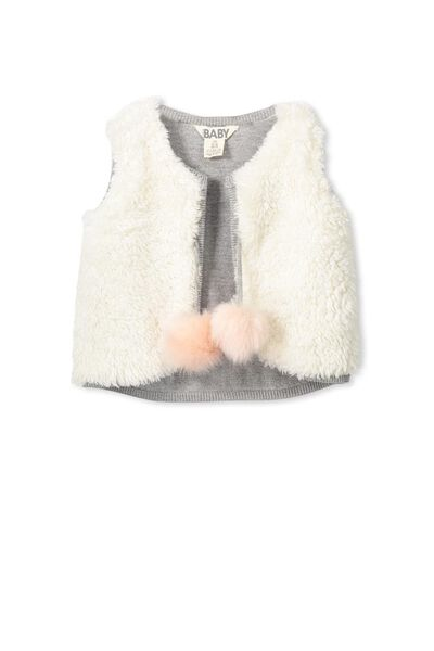 Aria Knit Vest, CLOUD MARLE