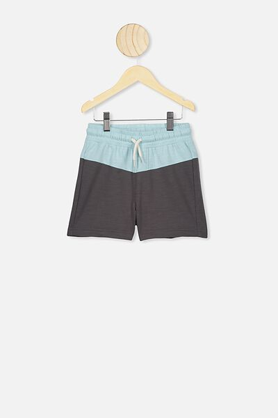 Henry Slouch Short, RABBIT GREY/DREAM BLUE SPLICE