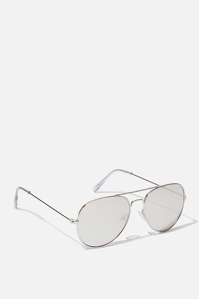 Pilot Sunglasses, SILVERY PILOT