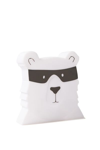 Bear Lamp, WHITE/BLACK
