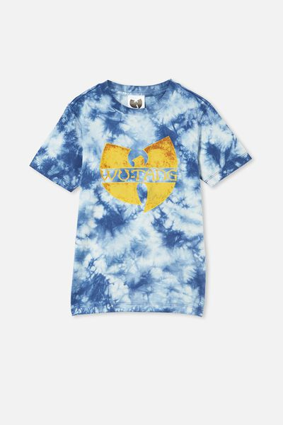 Co-Lab Short Sleeve Tee, LCN LIV INDIGO TIE DYE / WUTANG