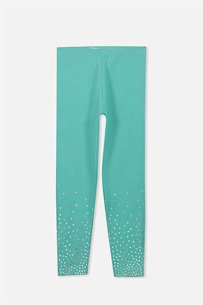 Huggie Leggings, TURQUOISE/SILVER FOIL GRADIENT STARS