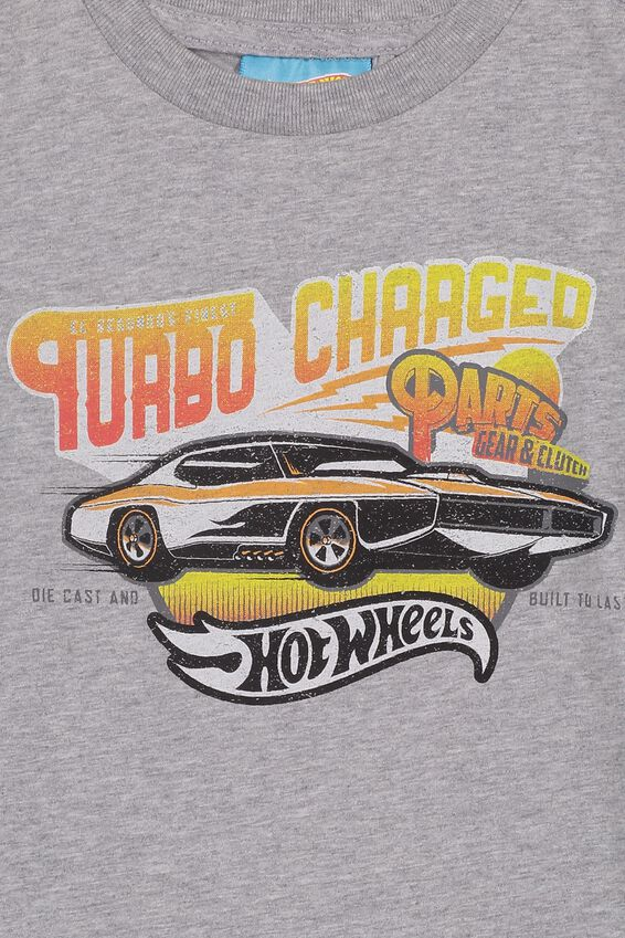 Co-Lab Short Sleeve Tee, LCN MAT GREY HOTWHEELS TURBO