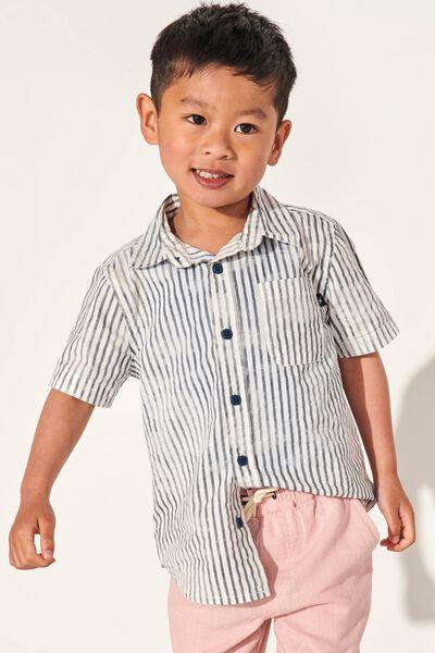 Resort Short Sleeve Shirt, INDIGO WASHED STRIPE