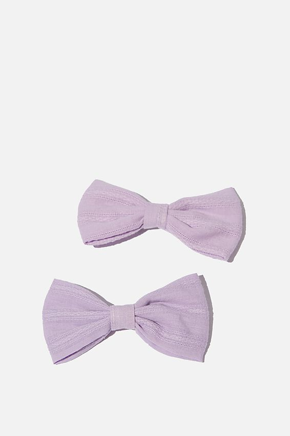 Big Bow Clips, VINTAGE LILAC POINTELLE
