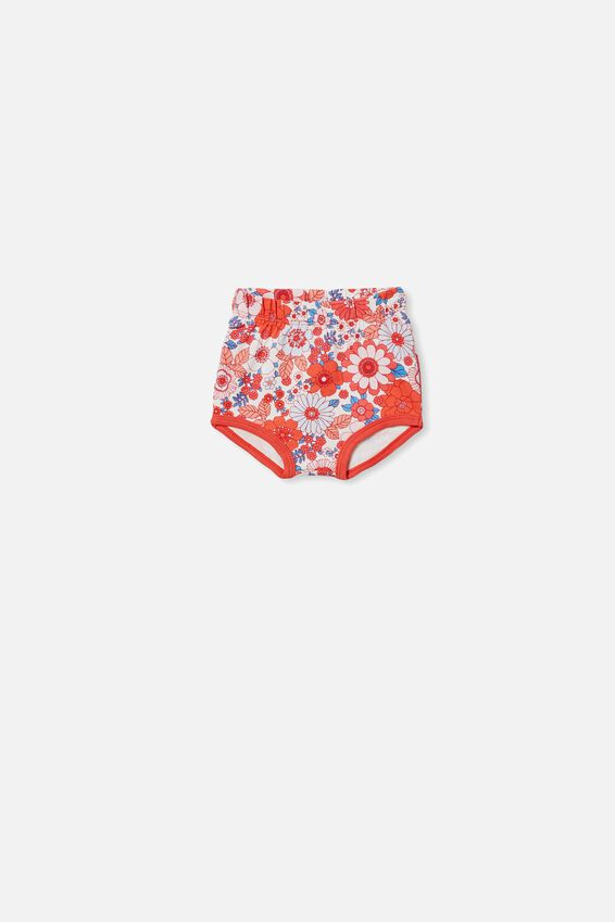 Stanley Shorties, VANILLA/RED ORANGE RETRO FLORAL