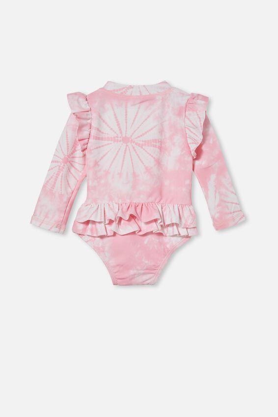 Lucy Long Sleeve Swimsuit, CALI PINK TIE DYE