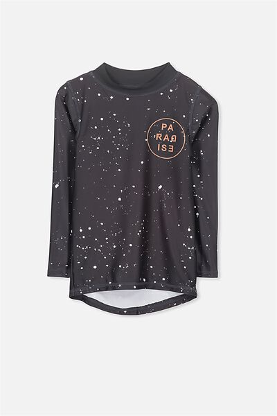 Fraser Long Sleeve Rash Vest, PHANTOM PAINT SPLATTER/PARADISE
