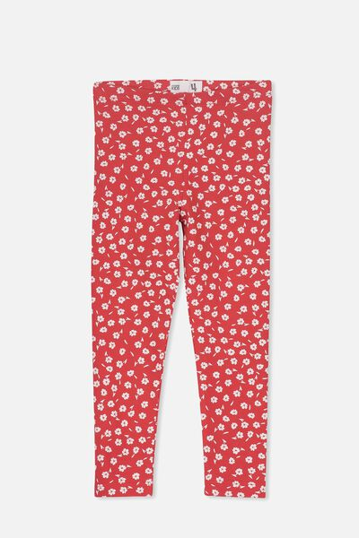 Huggie Tights, RALLY RED/WHITE DITSY FLORAL