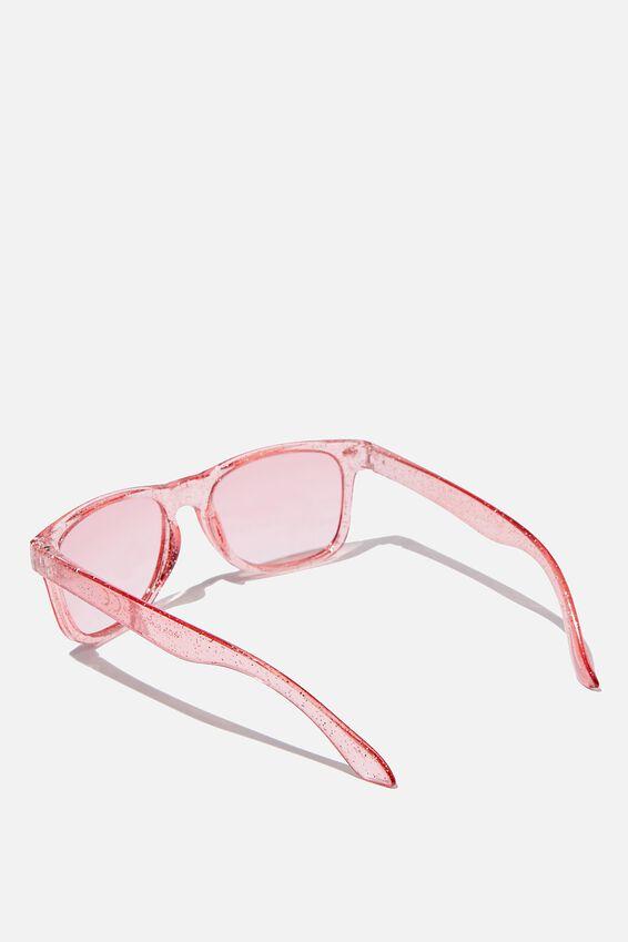 Kids Sunglasses, TRANSPARENT PINK GLITTER