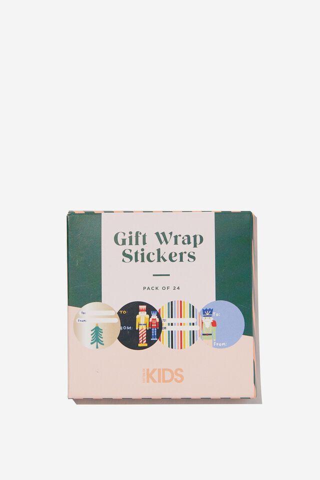 Christmas Wrap Stickers, NUTCRACKER CHRISTMAS