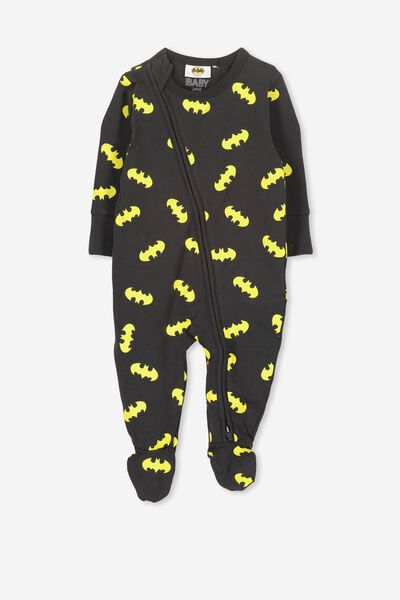 License Zip Through Romper, PHANTOM/LCN BATMAN LOGO