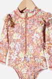 Lucy Long Sleeve Swimsuit, CHUTNEY/COASTAL FLORAL