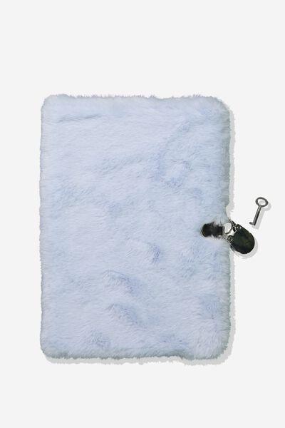A5 Secret Notebook, BLUE PLUSH