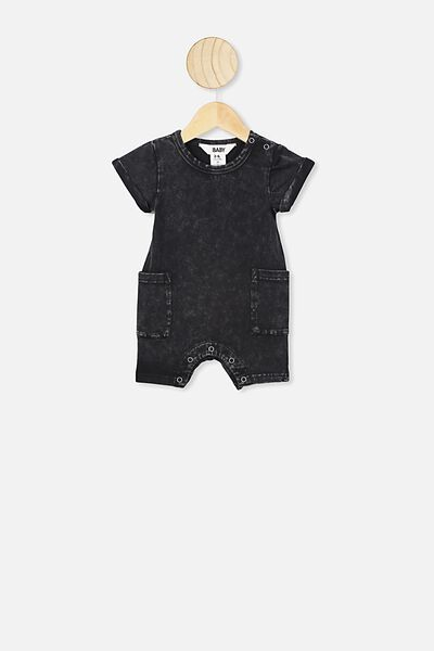 Alby Playsuit, BLACK