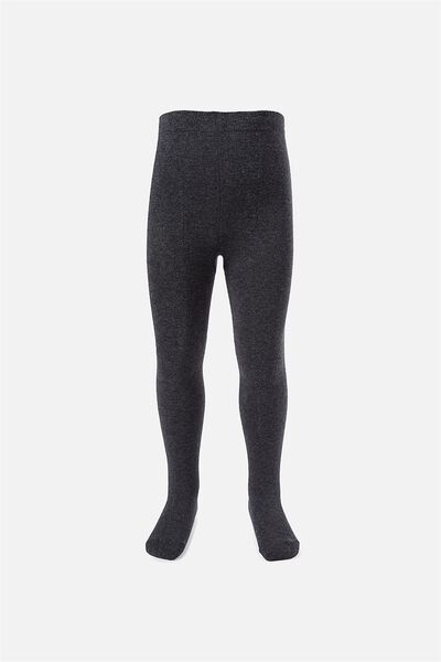 Solid Tights, CHARCOAL