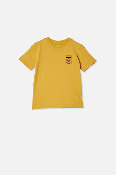 Co-Lab Short Sleeve Tee, LCN VEG HONEY GOLD / VEGEMITE
