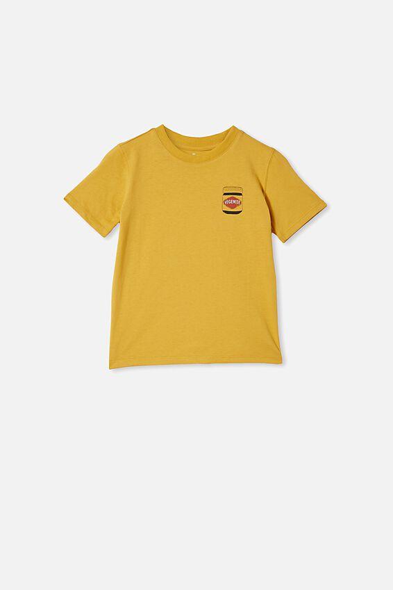 Vegemite short sleeve Tee, LCN VEG HONEY GOLD / VEGEMITE