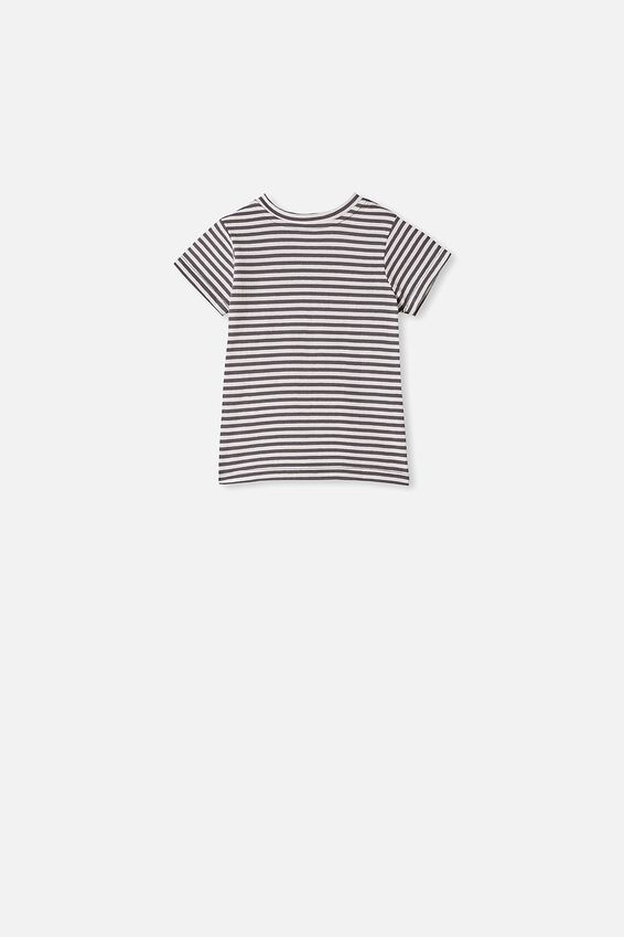 Jamie Short Sleeve Tee, CHRIS STRIPE RABBIT GREY/VANILLA
