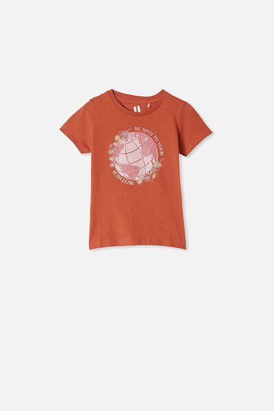 Penelope Short Sleeve Tee, ROASTED ALMOND/MOTHER EARTH
