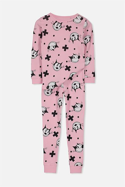Kristen Girls Long Sleeve PJ Set, FELIX THE CAT/PINK