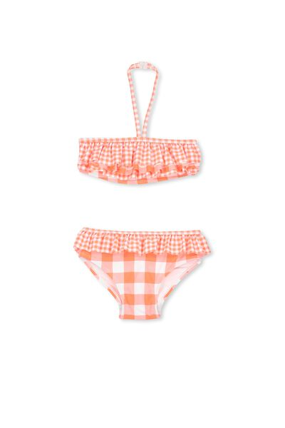 Riley Bikini, FLURO ORANGE/ORANGE BANG BANG GINGHAM