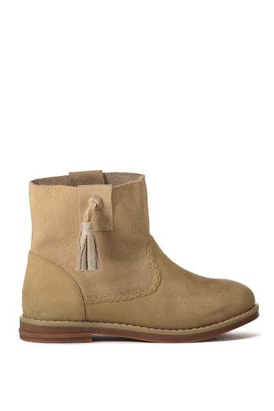 Chloe Slouchy Tassel Boot, SAND