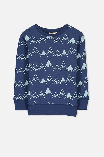 Lachy Crew Sweater, CAPTAINS BLUE/MOUNTAINS
