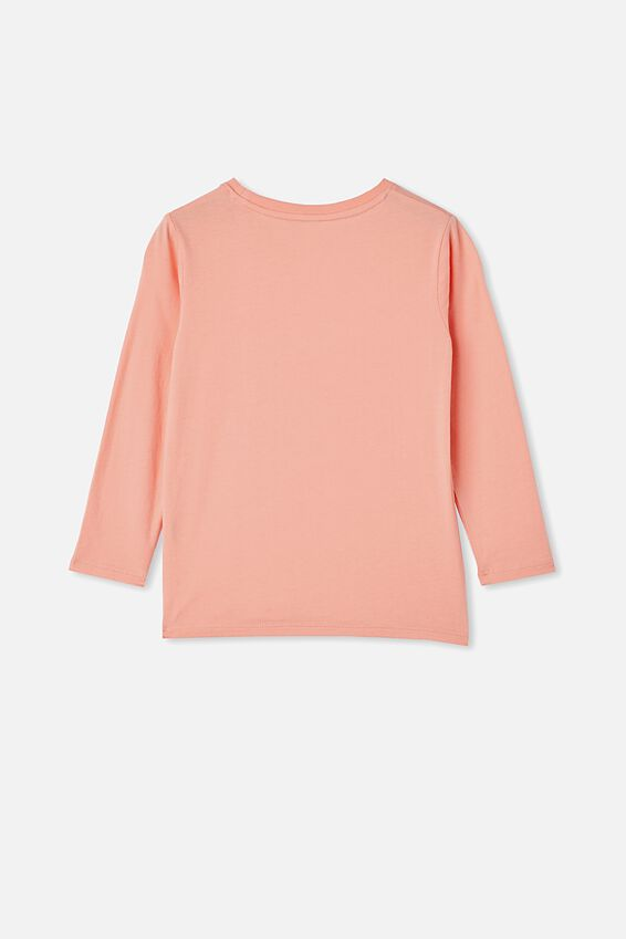 Penelope Long Sleeve Tee, MUSK MELON/MAKE IT HAPPEN