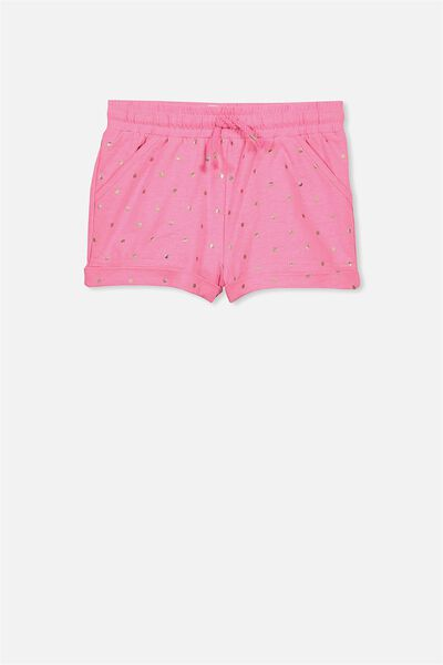 Nila Knit Short, POWER PINK/SPOT
