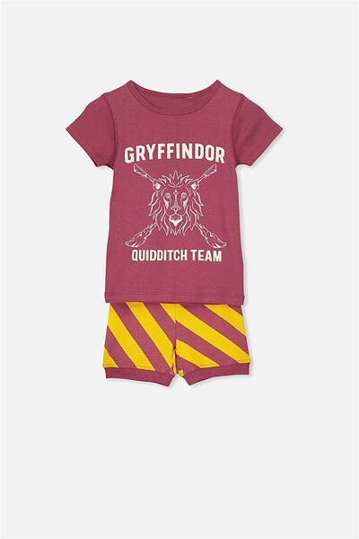Joshua Short Sleeve Pyjama Set, LCN HARRY POTTER GRYFFINDOR