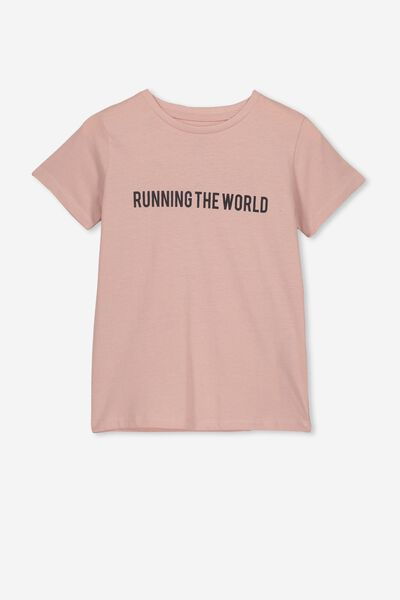 Penelope Short Sleeve Tee, PEACH WHIP/RUNNING THE WORLD/MAX