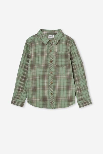 Rugged Long Sleeve Shirt, SMASHED AVO PLAID