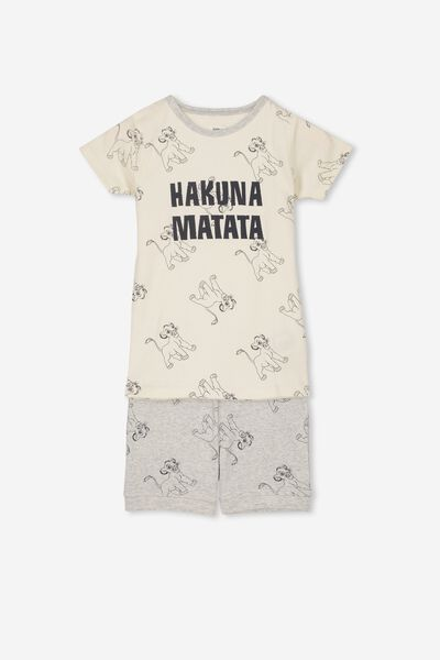 Joshua Short Sleeve Pyjama Set, LCN DIS LION KING/HAKUNA MATATA