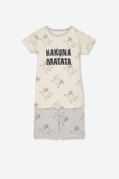Joshua Short Sleeve Pyjama Set, LCN DIS LION KING/HAKUNA MATATA
