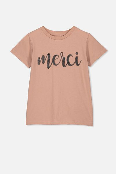 Stevie Ss Embellished Tee, CAMEO BROWN/MERCI/MAX