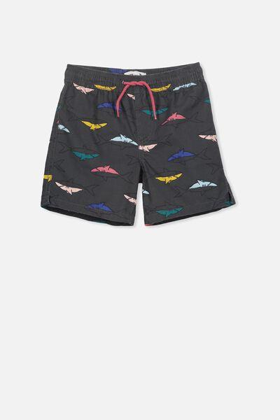 Murphy Swim Short, GRAPHITE GREY/SHARKS