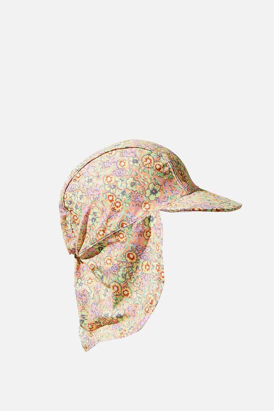 Sammy Swim Hat, MUSK MELON/VINTAGE FLORAL