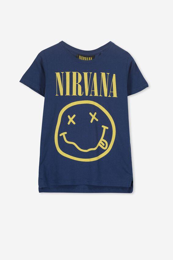 Nirvana Short Sleeve Tee, LCN LN CAPTAIN BLUE/NIRVANA