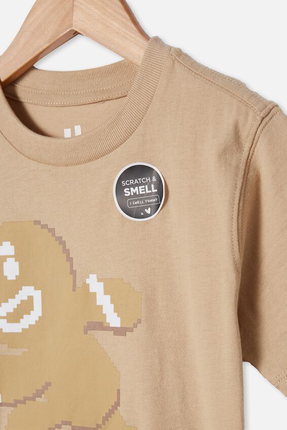Downtown Short Sleeve Tee, SEMOLINA/GINGERBREAD MAN