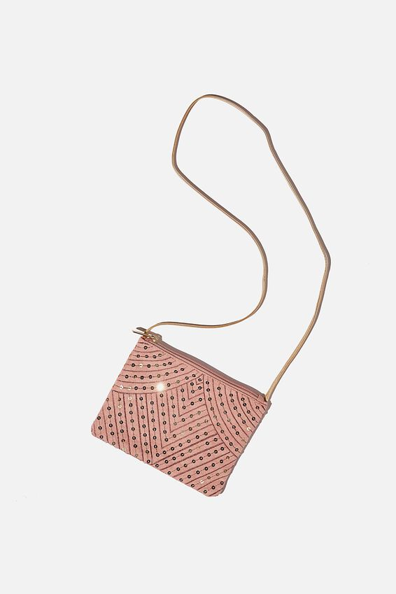 Ashley Party Bag, DUSTY BERRY SEQUIN