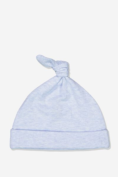 The Baby Beanie, PALE BLUE MARLE