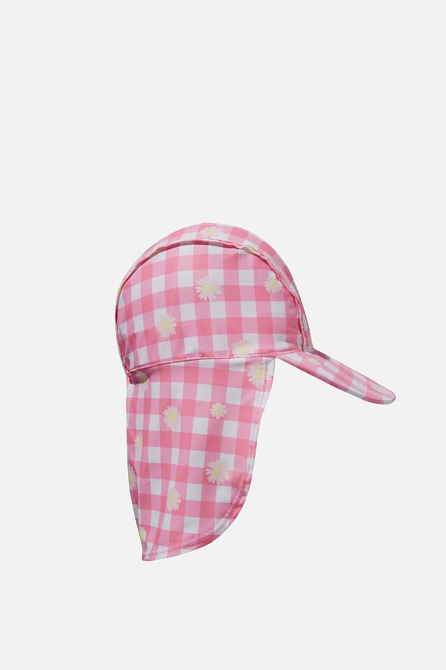 Swim Hat, GINGHAM AND DAISY PINK PUNCH