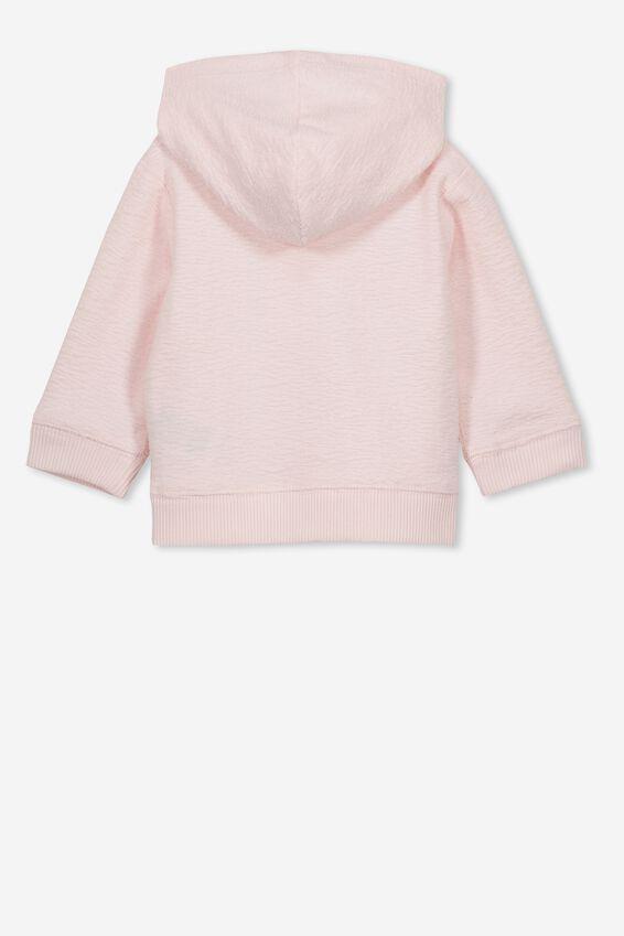 Blair Hooded Fleece Top, CRYSTAL PINK