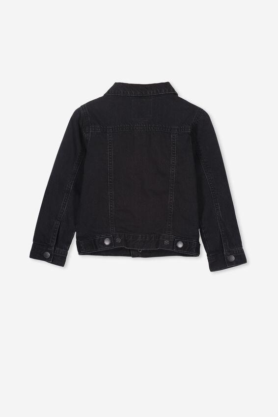 Quinn Denim Jacket, BLACK WASH