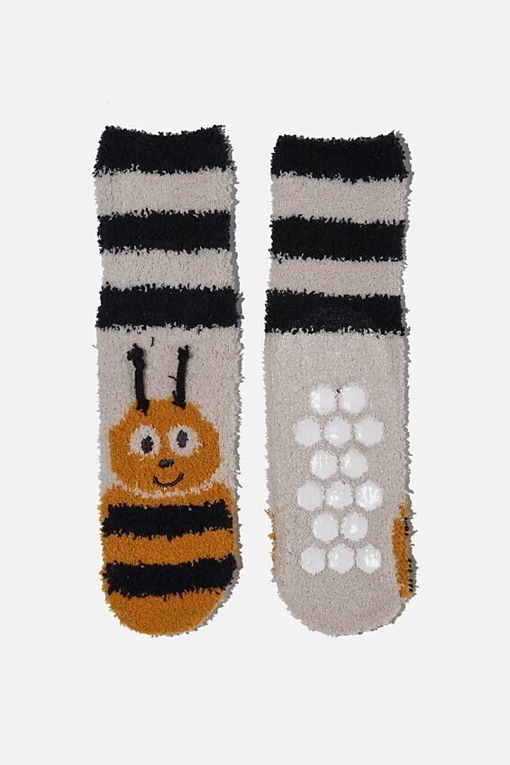 Slipper Sock, HONEY GOLD BEE